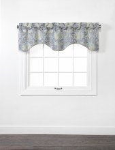 Doris Lined Scallop Valance with Cording - Colonial