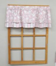 Minibabies Valance - Pink/grey