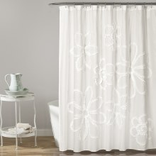 Ruffle Flower Shower - White