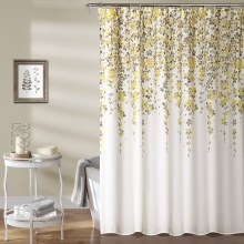 Weeping Flower Shower Curtain - Yellow/Gray