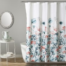 Zuri Flora Shower - Blue/coral