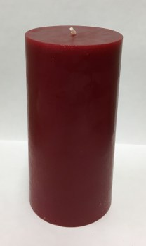 "Pillar Candle 3""x6"" Red"
