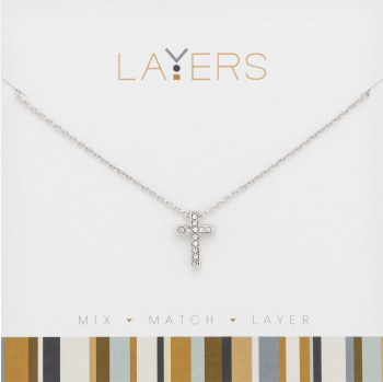 Layers Necklace Silver Cross