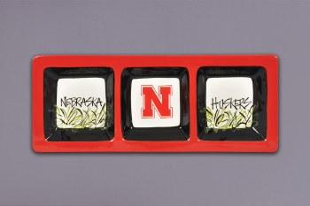 Husker 3 Section Divided Tray