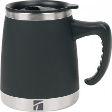 Umbria Desk Mug Black 15 Oz