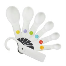 7 Piece Measuring Spoon Set White