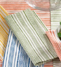 Nastro Stripe Napkin Green
