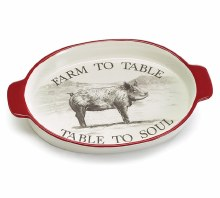 Oval Tray Farm To Table Pig