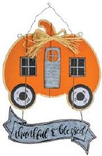 Pumpkin Greeter Camper Hanger