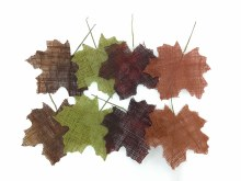 Burlap Maple Leave Pack of 8