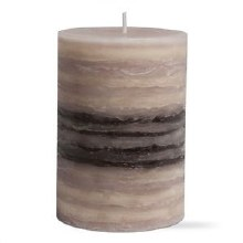 Strata Scented Pillar 3x4 Gray