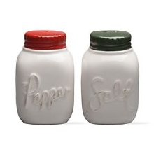 Salt & Pepper Shaker Vintage Jar