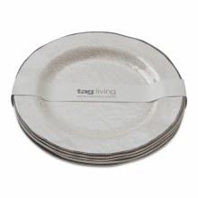 Melamine Salad Plate Ivory Set/4