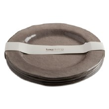 Melamine Dinner Plate Gray Set/4