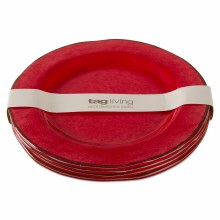 Melamine Salad Plate Red Set/4