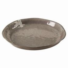 Melamine Veranda Shallow Bowl Gray