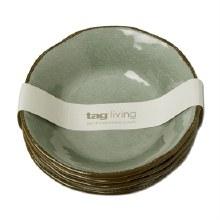 Melamine Veranda Bowls Set/4 Slate Blue