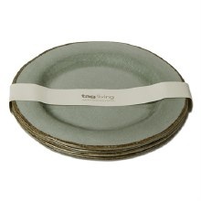 Melamine Dinner Plate Slate Blue Set/4