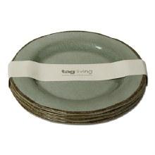 Melamine Salad Plate Slate Blue Set/4