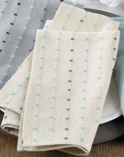 """Cousu Stitched Napkin 20"""" Beige"""