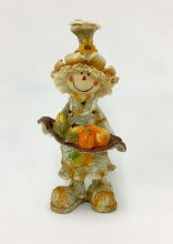 Resin Scarecrow With Basket