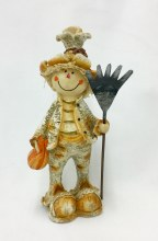 Resin Scarecrow With Rake