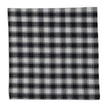 French Check Napkin Black/White