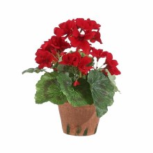 "Potted Geranium 9"" Red"