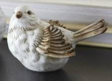 """Bird 4"""" Whitewash (c)"""