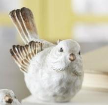 """Bird 4"""" Whitewash (a)"""