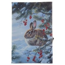 Lighted Rabbit Print 6""
