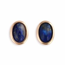 Gold Giving Earrings - Lapis
