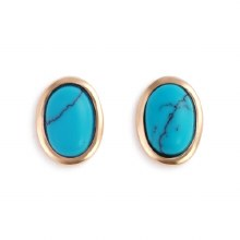 Gold Giving Earrings - Turquoise