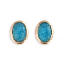 Gold Giving Earrings - Aquamarine