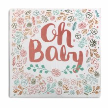 Oh Baby Photo Swaddle Blanket