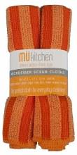 Micro Scrub Cloth Set Orange