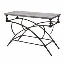 Galvanized Console Table