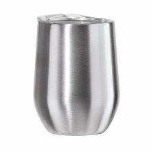 Cheers Wine Tumbler Silver