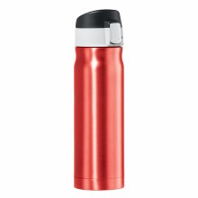 Caliber Double Wall Stainless Steel Vacuum Insulated Travel Flask 16oz Red