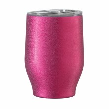 Party Wine Tumbler 12oz  Magenta Frost