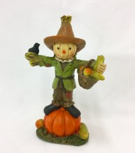 Resin Scarecrow On Pumpkin