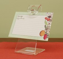 Recipe Card Holder Acrylic