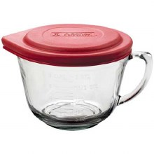 Glass Batter Bowl with Lid 2 qt.