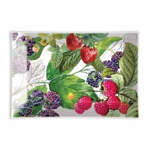 Berry Path Rectangle Glass Soap Dish