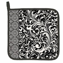 Black Florentine Pot Holder