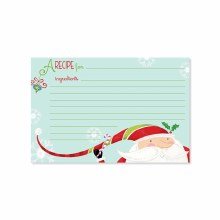 Candy Santa Recipe Cards