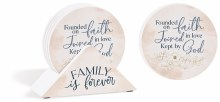 Coasters with Holder Family Set of 4