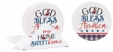 Coasters with Holder My Home Set of 4