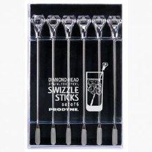 Diamond Swizzle Stick Set of 6