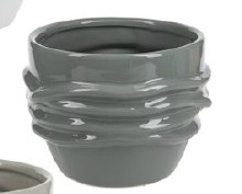 Planter Vines Dark Gray